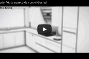 Operation gesture technology . Simulation controlling a Glass ceramic/Induction hob